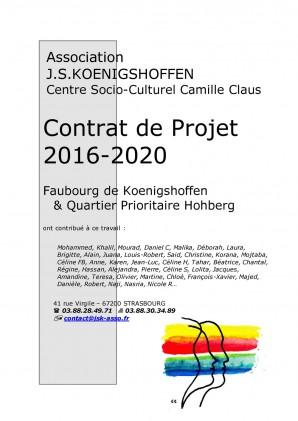 Contrat de projet 2016-2020