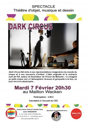 Spectacle Dark Circus au Maillon Waken