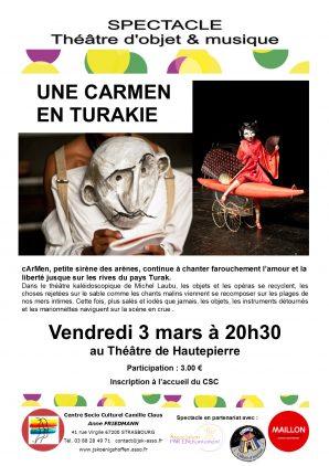 Spectacle Une Carmen en Turakie