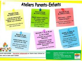 Ateliers Parents-Enfants en juin