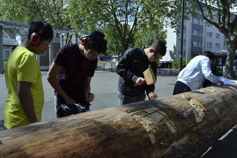 Reprise des ateliers sculpture du tronc