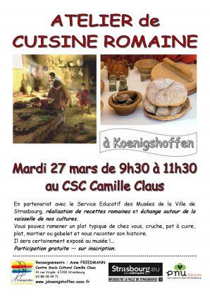 Atelier de cuisine romaine
