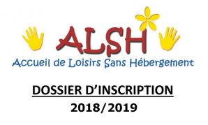 Dossier d'inscription ALSH 2018-2019