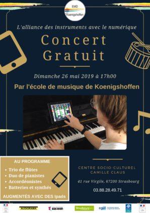 Concert de l'école de musique de Koenigshoffen