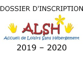 Dossier d'inscription ALSH 2019-2020