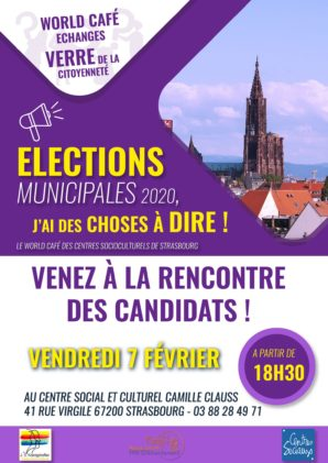 World café échanges Élections municipales