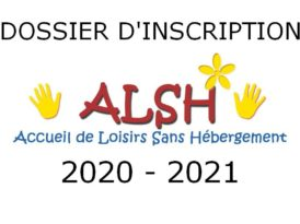 Dossier d'inscription ALSH 2020-2021