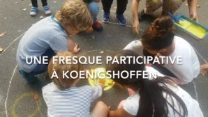 Strasbourg Eurométropole – La fresque participative du CSC Camille Claus