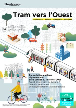 Concertation publique «Tram vers l'Ouest»