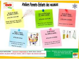 Ateliers Parents-Enfants des vacances d'hiver 2021