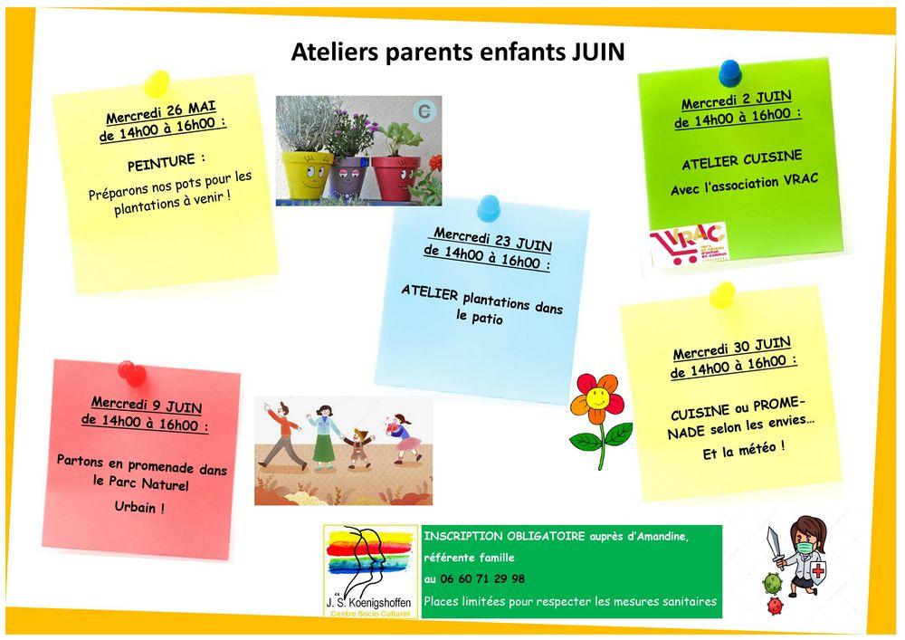 Atelier Parents-Enfants juin 2021